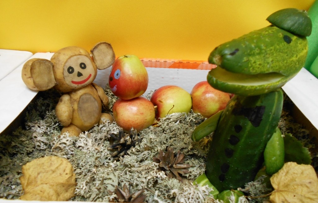 Фото поделок из фруктов и овощей осень 946