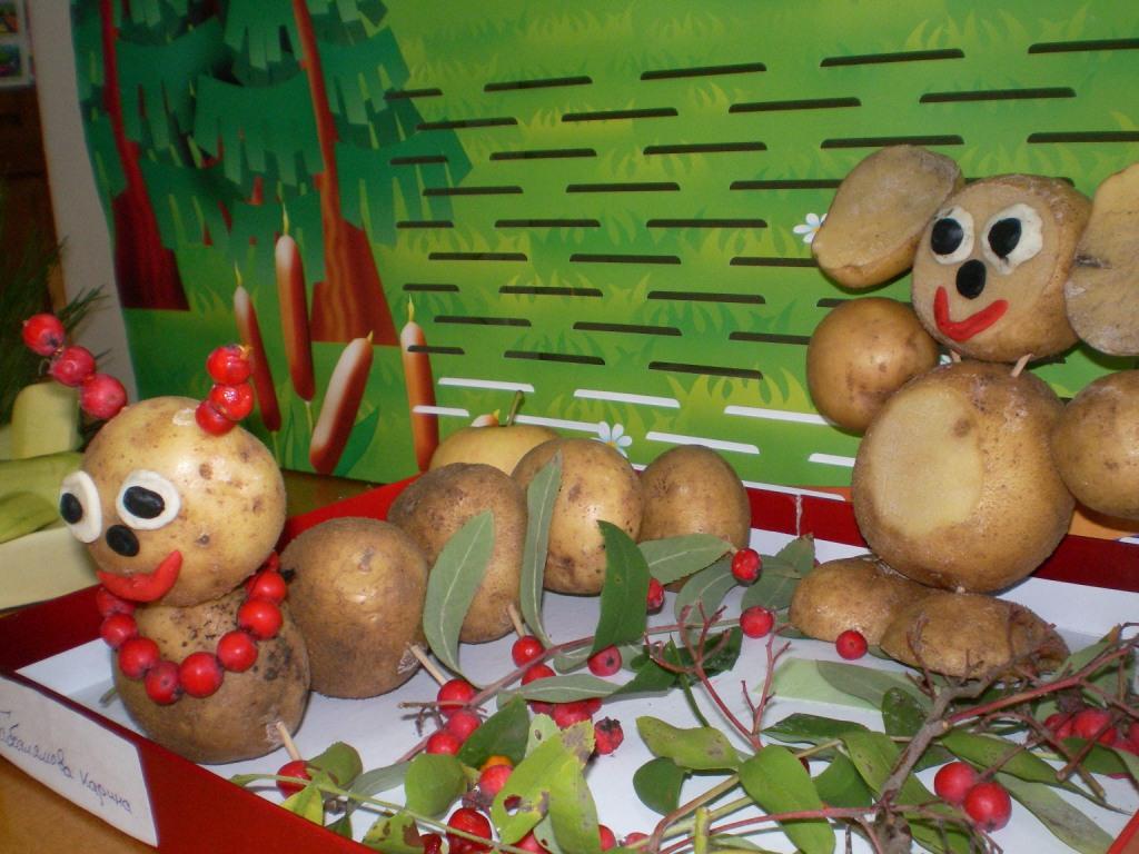 Выставка детских поделок из овощей